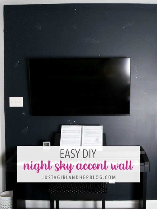 Easy DIY Night Sky Accent Wall