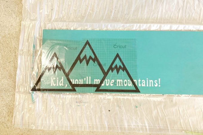 Vinyl Mountains with Transfer Tape on Sign