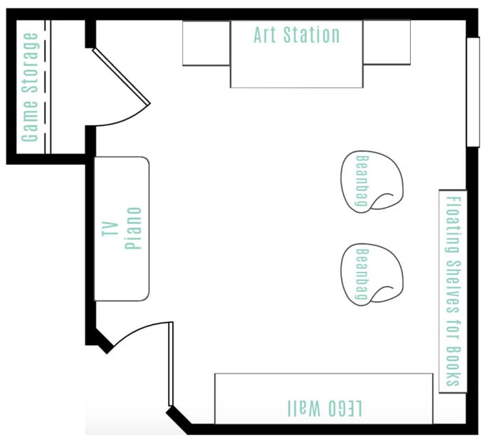 Tween Hangout Room Floor Plan