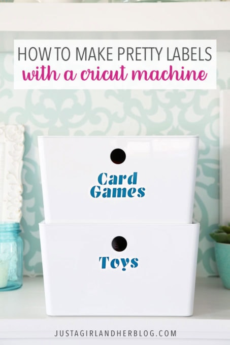 How to Make Pretty Labels with a Cricut Machine