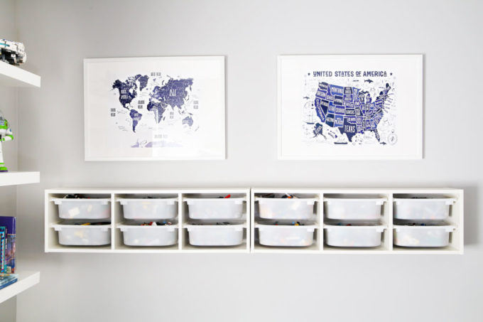 IKEA RIBBA Frames with Map Prints