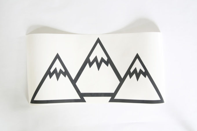 Mountains Cut Out of Vinyl