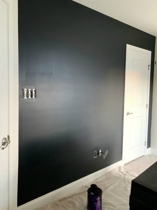 Accent Wall Painted Black
