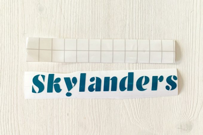 Label with Transfer Tape