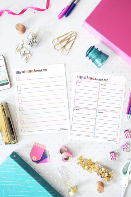 Free Printable Bucket Lists