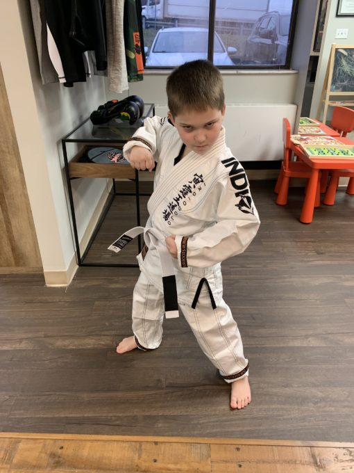 Little Boy in Jujitsu Gi
