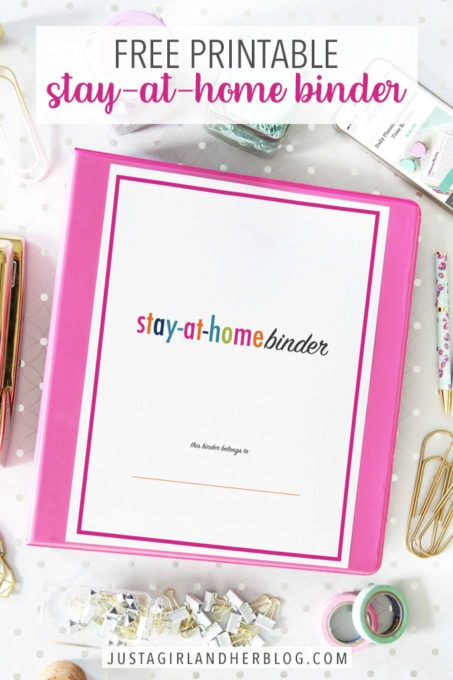 Free Printable Stay-at-Home Binder