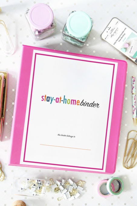 Printable Stay-at-Home Binder Cover