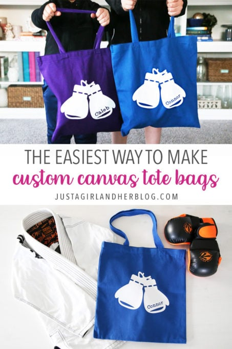 The Easiest Way to Make Custom Canvas Tote Bags