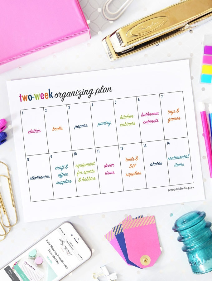 Two-Week Plan for Getting Organized