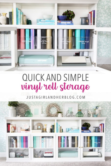 Quick, Simple, and Pretty Vinyl Roll Storage