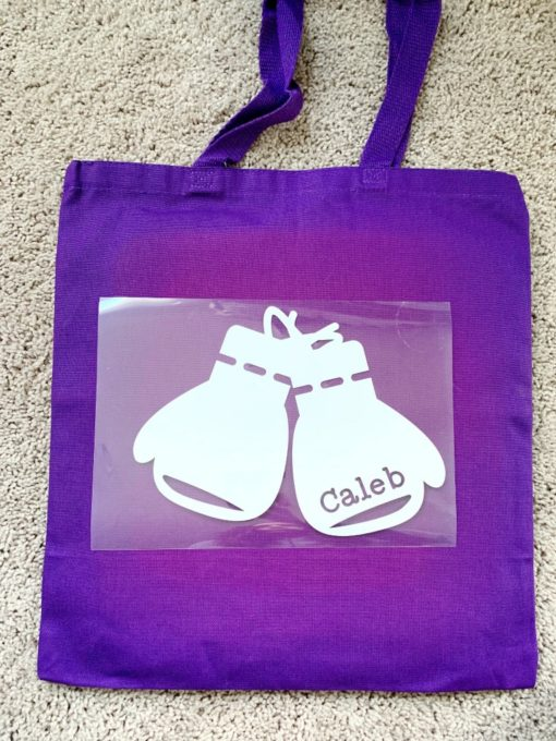 Iron-On Vinyl with Backing on Canvas Tote Bag