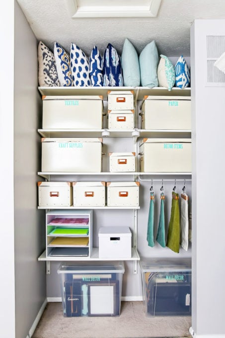 Organized Craft Room Closet