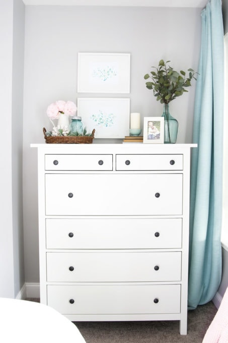 IKEA HEMNES Dresser with Picture Frames