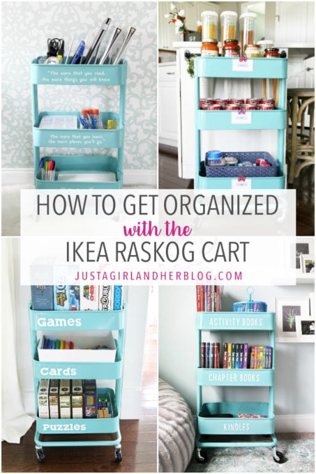 How to Get Organized with the IKEA RASKOG Cart