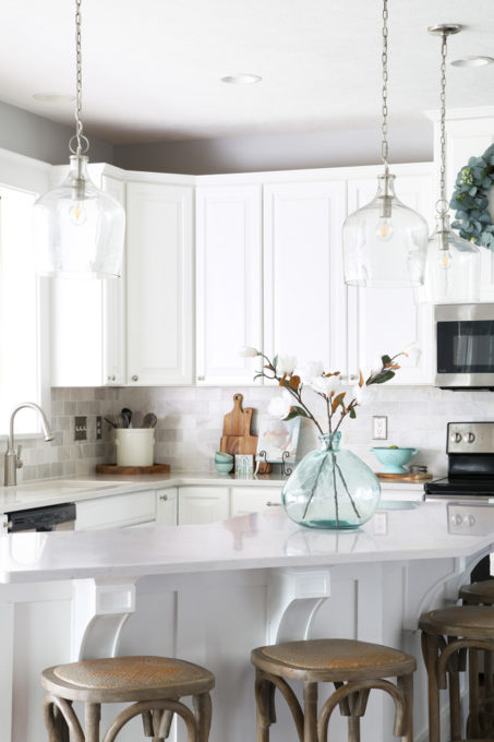 White Kitchen Organized