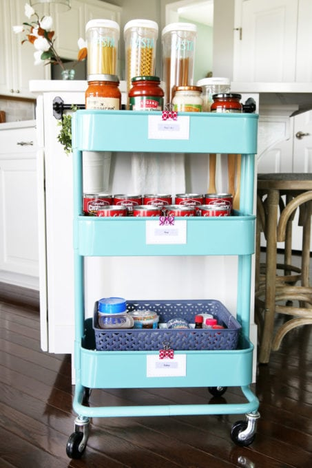 IKEA Kitchen Cart Organizing Pantry Supplies
