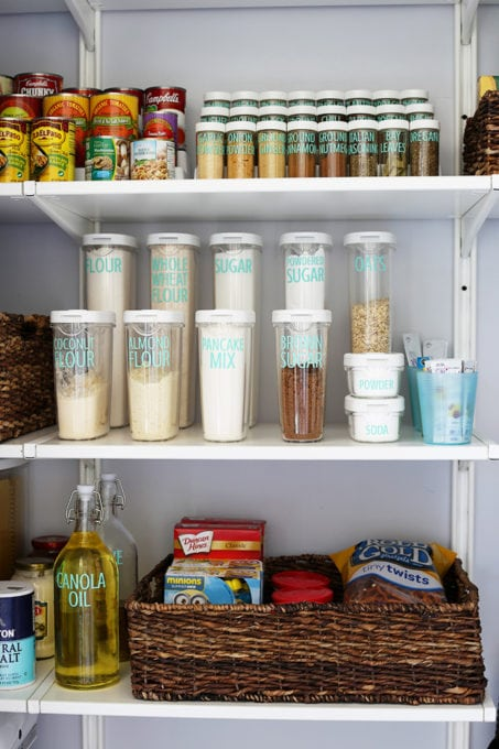 Organized Pantry Containers