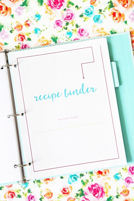 Organized Recipe Binder