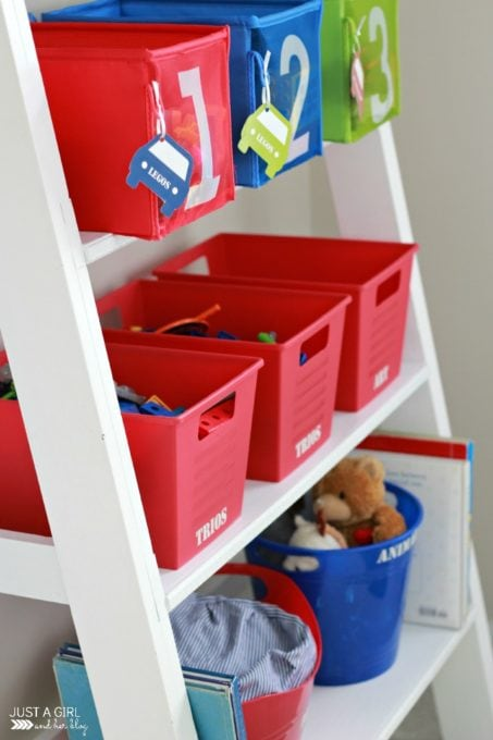 Toy Bins with Labels
