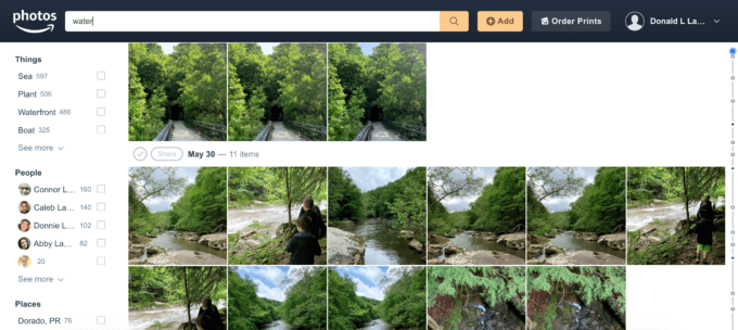 Water Images in Amazon Photos