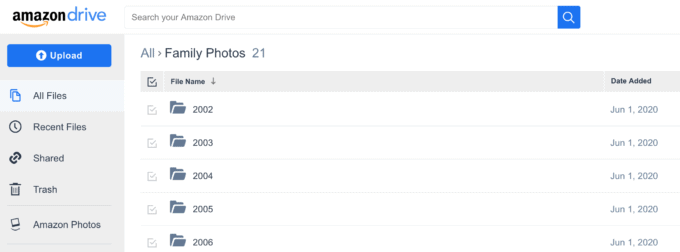 Photos Organized in Amazon Drive