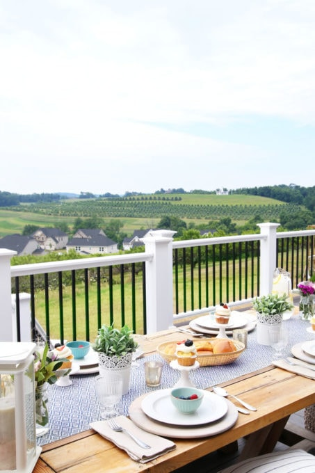 Outdoor Tablescape and View of Farmland