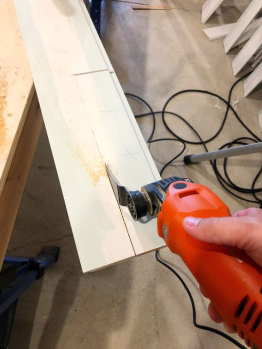 Cutting Shiplap to Size for Vertical Shiplap Wall