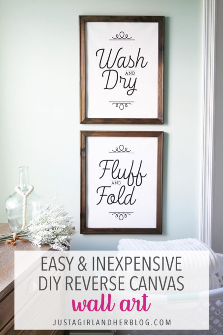 Easy and Inexpensive DIY Reverse Canvas Wall Art