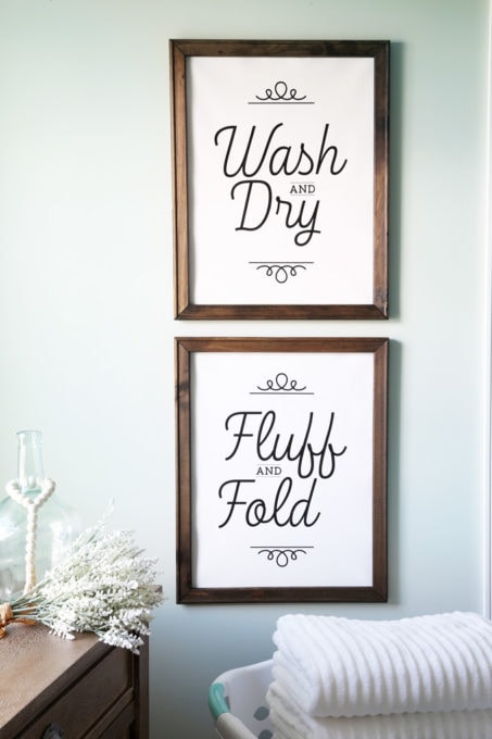 Laundry Room DIY Wall Art on a Reverse Canvas