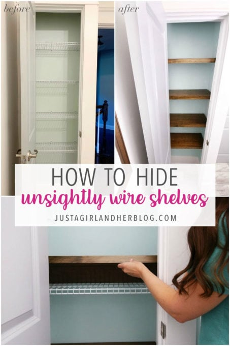How to Hide Unsightly Wire Shelves