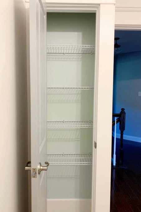 Linen Closet with Wire Shelves