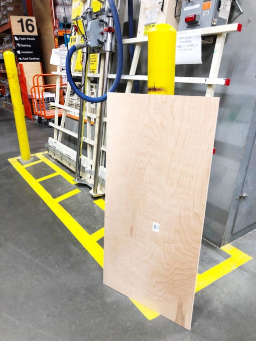 Sheet of Plywood for Making Covers for Wire Shelves