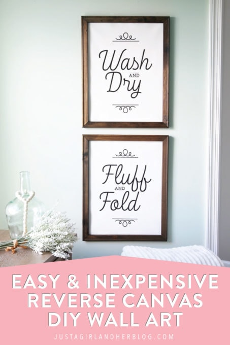 Easy and Inexpensive Reverse Canvas DIY Wall Art