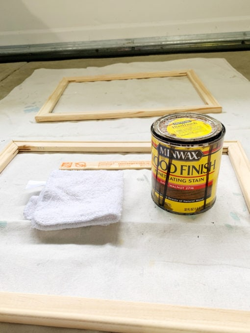 Staining Supplies for Frame