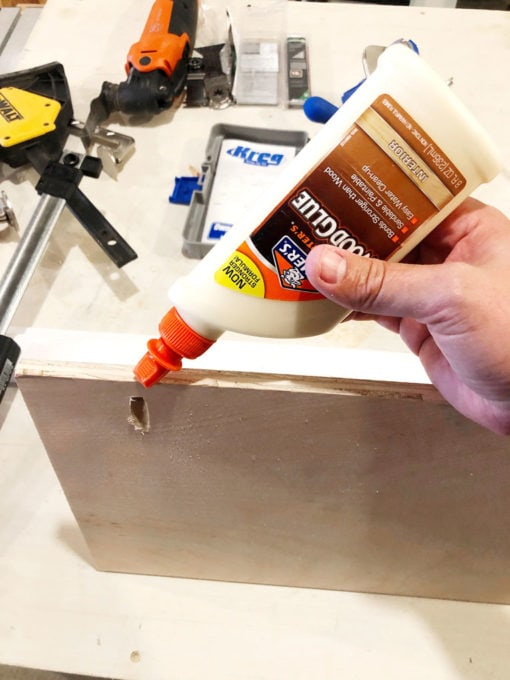 Using Wood Glue on Shelf