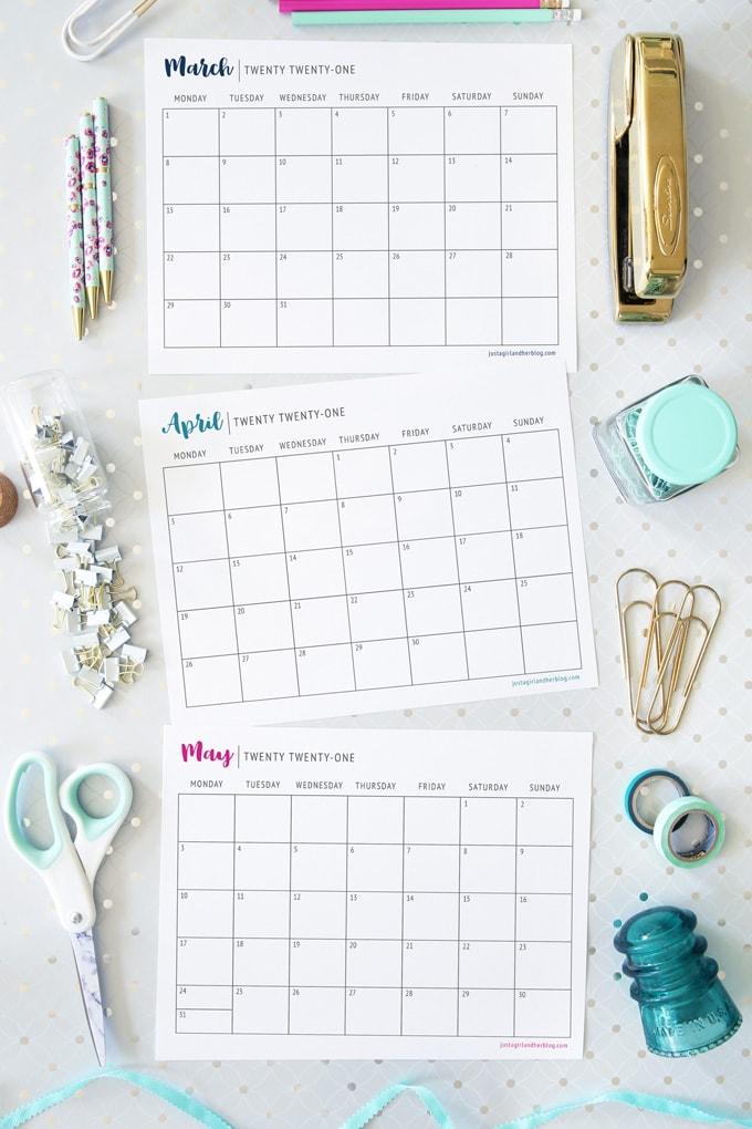 Free Printable 2021 Calendar | Abby Lawson