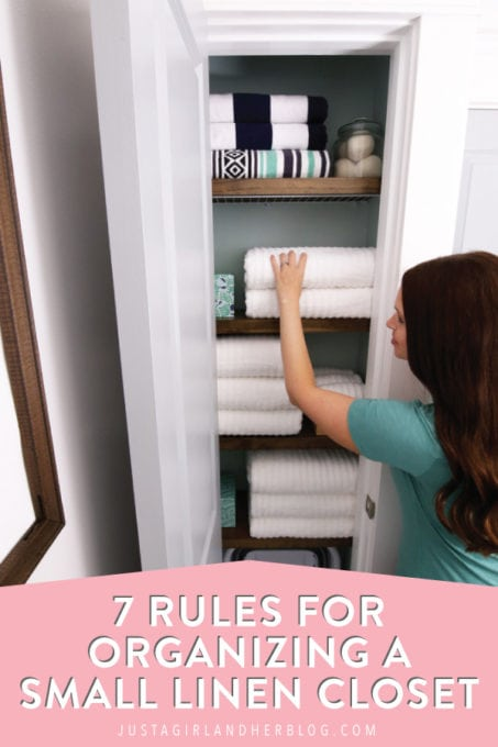 7 Rules for Organizing a Small Linen Closet