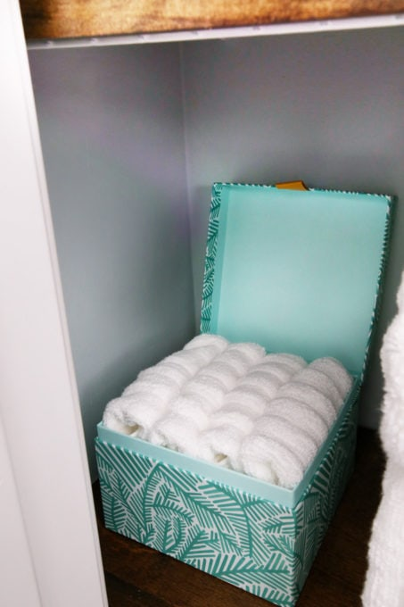 Washcloths Stored in a Small Box