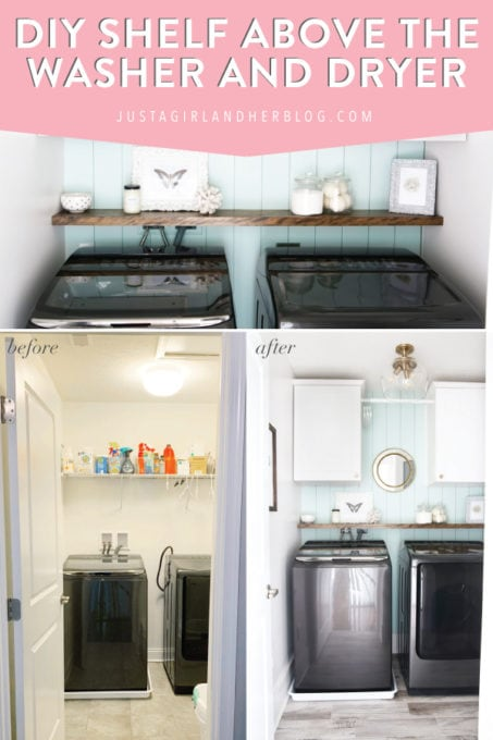 Diy Shelf Above Washer And Dryer Abby Lawson