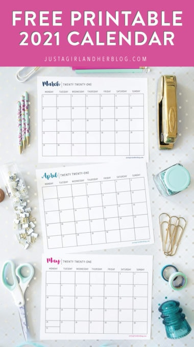 Free Printable 2021 Calendar Abby Lawson