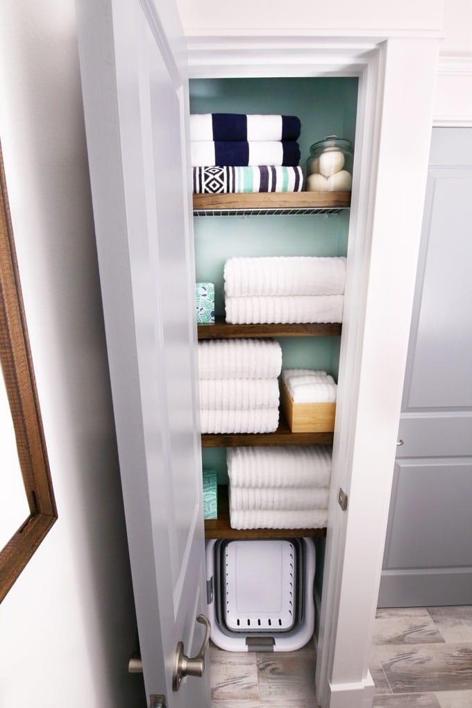 How To Organize A Small Linen Closet, Bathroom Linen Closet Ideas