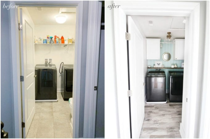 Laundry Room Before and After Transformation