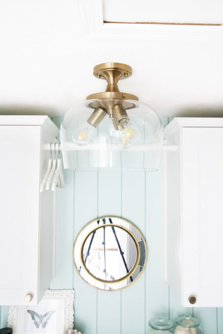 Beautiful Laundry Room Semi-Flush Mount Light