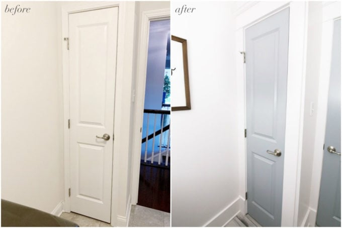 Linen Closet Door Before and After