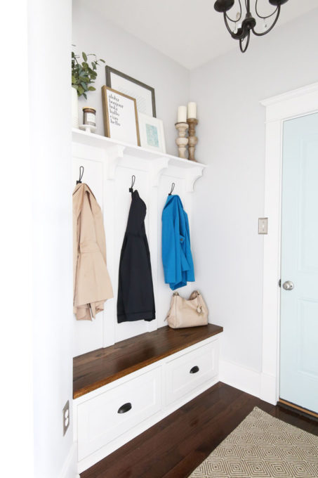 Organized Mudroom After