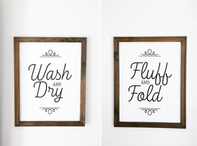 Wash and Dry, Fluff and Fold, DIY Signs