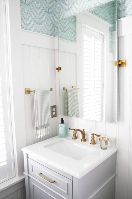 Half Bath with Wainscoting / Beadboard Paneling
