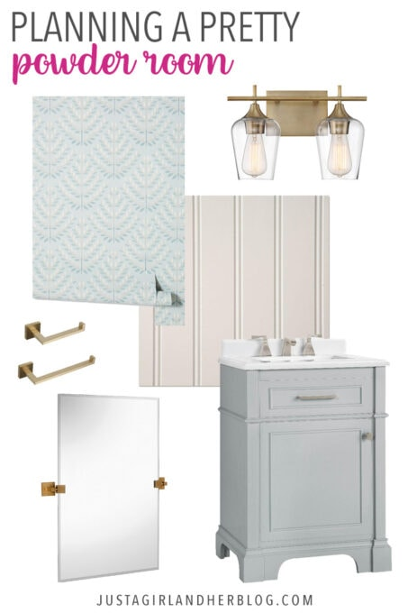 Planning a Pretty Powder Room