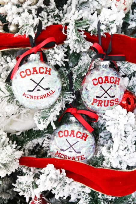 DIY Coach Gift Christmas Ornaments